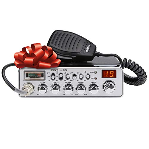 Uniden PC78LTX 40-Channel Trucker's CB Radio with Integrated SWR Meter, PA Function, Hi Cut, Mic/RF Gain, and Instant Channel 9,Silver