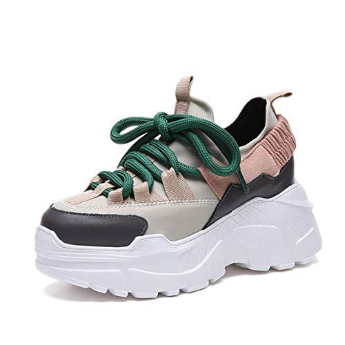 Piattaforma da Donna Chunky Sneakers da Donna Impermeabile con Suola Spessa Calzature Outdoor Traspirante Casual Lace Up Scarpe Femminili