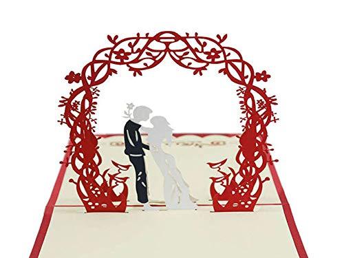 EUFANCE Tarjeta de felicitación emergente 3D con anillo tridimensional, aniversario de cumpleaños, Halloween, año nuevo, acción de gracias, Navidad, día de San Valentín, boda