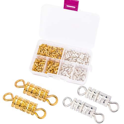 200 Cierre para collares, cierres para pulseras para hacer pulseras niñas joyas bricolaje collar colgante