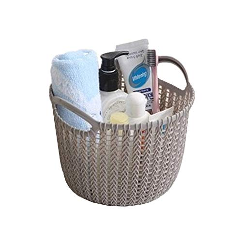 YoungYuan bedroom storage baskets storage basket small storage basket storage baskets for shelves small storage box wicker storage basket small basket gray