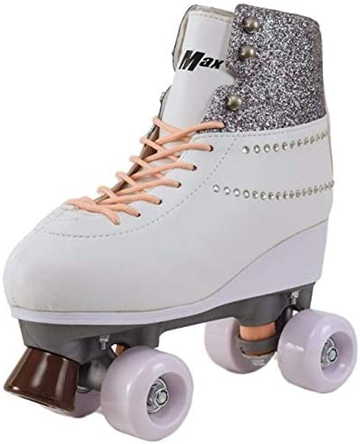 Roller Skates for Women Girls Size 7 Diamond Sparkle for Adults Teenagers and Kids Quad Derby product image
