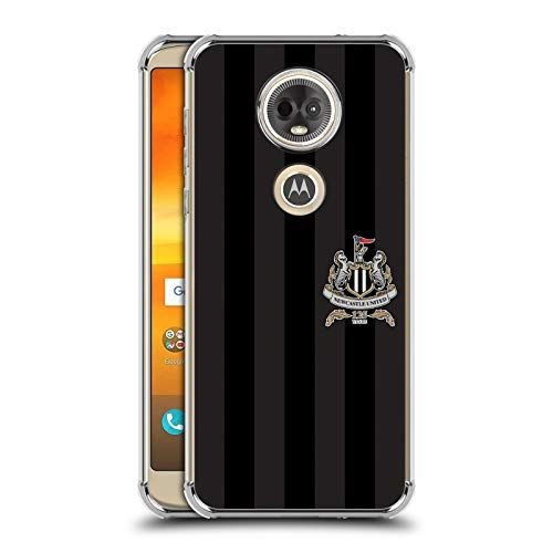 Officiële Newcastle United FC NUFC Derde Shirt Crest & Patterns Zilver Shockproof Fender Case Compatibel voor Motorola Moto E5