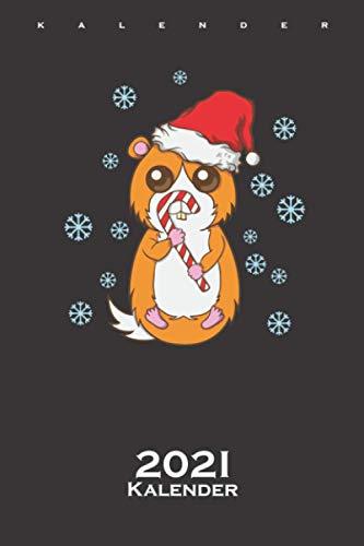 Meerschweinchen mit Zuckerstange Weihnachten Kalender 2021: Jahreskalender für alle die das Fest der Liebe mögen