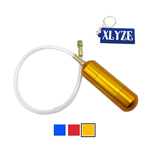 XLYZE Aluminum Racing Boost Power Bottle Oro para 49cc 50cc 60cc 66cc 80cc 2 tiempos Gas Motorizada Bicicleta Push Bike Mini Moto