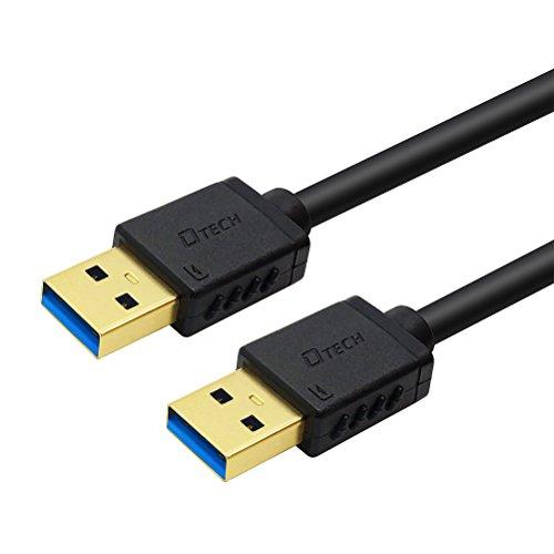 『DTECH USB 3.0 ケーブル 0.25m タイプA-タイプA オス-オス 金メッキコネクタ搭載 ブラック』の2枚目の画像