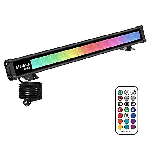 MEIHUA RGB LED Wallwasher Licht Farbwechsellichter LED Bar Lichteffekte mit Fernbedienung Partylicht für DJ Disco Karneval Halloween Weihnachten Bühnenbeleuchtung