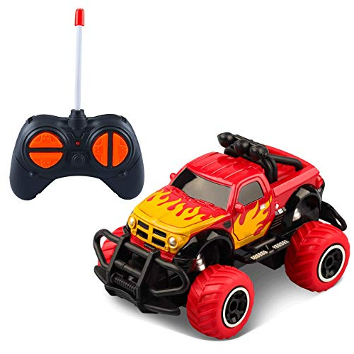 LOFEE Car Toy for 3-8 Years Old Boys, 2.4G Remote Control Car Toy for Kids Birthday Gift for 3-5 Years Old Boys RC Turck for 3-9 Years Old Present for 5 Years old Girl, 5.5*3.3*2.7 inches