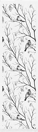 ekelund tischläufer tischdecke bullfinches 35x120cm 100% bio-baumwolle