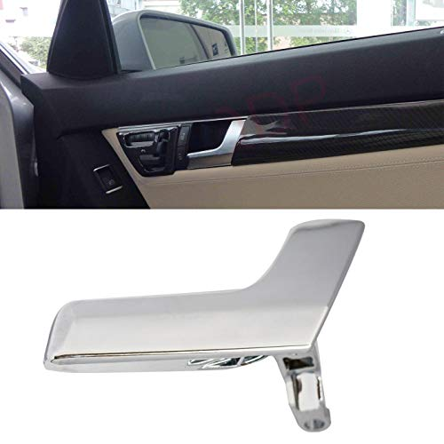 LQQDP New 1pcs Chrome Interior Door Handle Kit for Passenger Right Side (Front or Rear) Fit for Mercedes-Benz W204 C-Class C180/C200/C230/C250/C280/C300/C350/C63 AMG X204 GLK250/GLK280/GLK300/GLK350