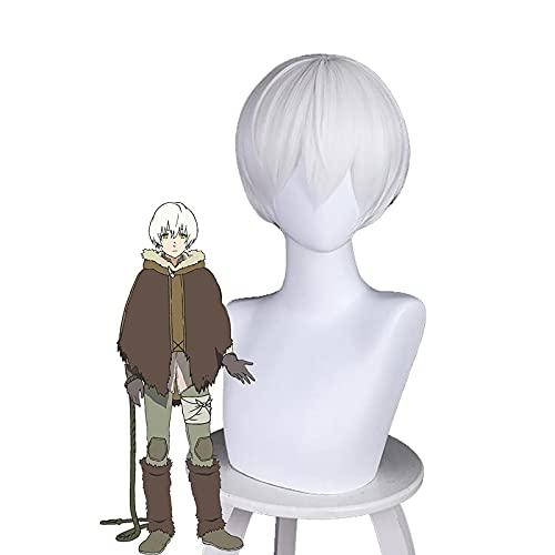 Peluca altamente restaurada de anime Cosplay peluca a tu eternidad Fushi Cosplay peluca para Halloween accesorios de fiesta con gorra de peluca que vale la pena comprar por los entusiastas