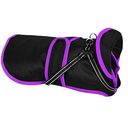 Cappottino invernale per cani (XS, lilla), impermeabile e riflettente, giacca invernale per cani di taglia piccola, media e grande