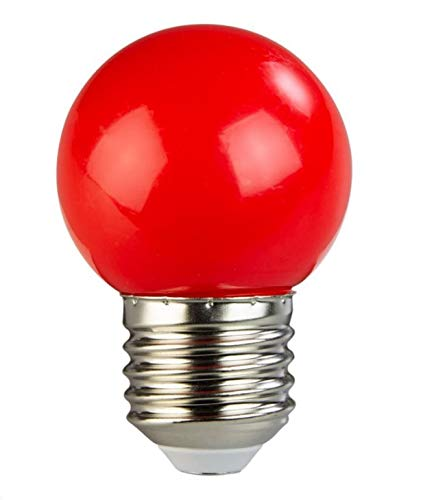 Lâmpada Led Bulbo Bolinha G45 3w - Vermelha Iluminação Decoração