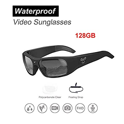 OHO Waterproof Video Audio Sunglasses,Built-in Memory with Ultra 1080P Full HD Video Recording Camera and Polarized UV400 Protection Safety Lenses,Unisex Sport Design by OhO sunshine