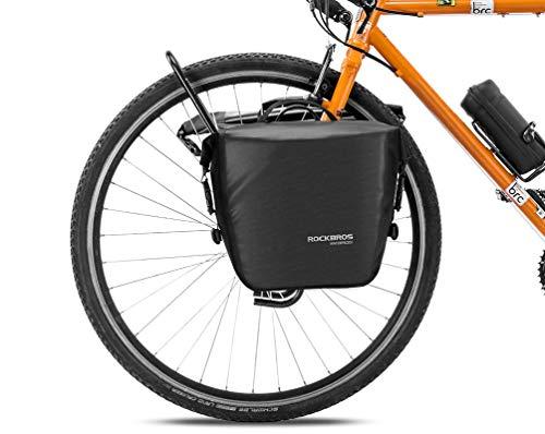 ROCKBROS Gepäckträgertasche 100% wasserdichte Hinterradtasche Fahrradtasche für Gepäckträger Vorne/Hinten mit Schultergurt 12-16L
