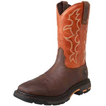 ARIAT Workhog Wide Square Toe Work Boot – Men's Leather Square Toe Work Boot