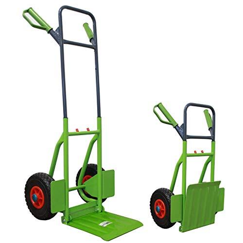 TrutzHolm® Sackkarre klappbar pannensicher Transportkarre 200kg Stapelkarre Treppensteiger pannensicher Räder