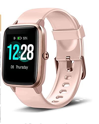 Reloj Inteligente de Salud, Reloj Inteligente a Prueba de Agua con Monitor de frecuencia cardíaca, Monitor de Fitness, Reloj con podómetro, Reloj Inteligente aeróbico para Hombres y Mujeres