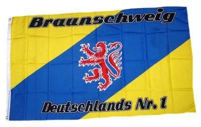 Fahne / Flagge Braunschweig Nr. 1 Fan NEU 90 x 150 cm