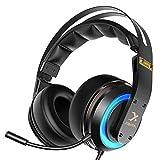 N7 Stereo Xbox One Kopfhörer mit Noise Cancelling Mikrofon Wired PC Gaming Headset für PC, MAC, PC, Handy