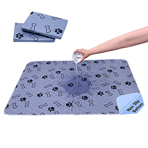 MIIMER Washable Pee Pads for Dogs Reusable Pet Pee Pad, Waterproof Dog Floor Mats, Non Slip Puppy Training Pad, Whelping Pads for Guinea Pigs, Bunnies, Cats (2 Pack (36''x41''))