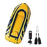 HOUSEHOLD Bote Inflable para Tres Personas, Kayak, Bote de Goma, Bote de Asalto de Pesca, Bote de Pesca