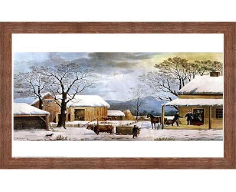 ホーム、感謝祭by Currier and Ives?–?27?x 22インチ?–?アートプリントポスター LE_33759-F10570-27x22
