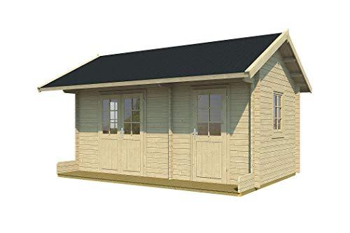 Tene Kaubandus Gartenhaus Annika 40 ISO Blockhaus 500x300cm 40mm Holzhaus Ferienhaus Holzhütte