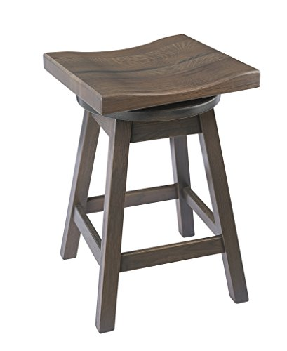 Furniture Barn USA Swivel Urban Bar Stool in Quarter Sawn Oak Wood - Multiple Sizes and Colors!
