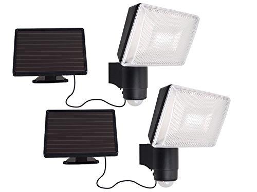 Set van 2 Solar LED-spots met bewegingsmelder, SAMSUNG LED, 120°, IP44 - LED-schijnwerper/bouwlamp