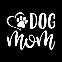 Dog Mom Paw Heart Vinyl Decal Sticker | Cars Trucks Vans SUVs Walls Cups Laptops | 5 Inch | White | KCD2628