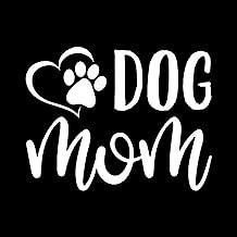Dog Mom Paw Heart Vinyl Decal Sticker | Cars Trucks Vans SUVs Walls Cups Laptops | 5 Inch | White | KCD2628