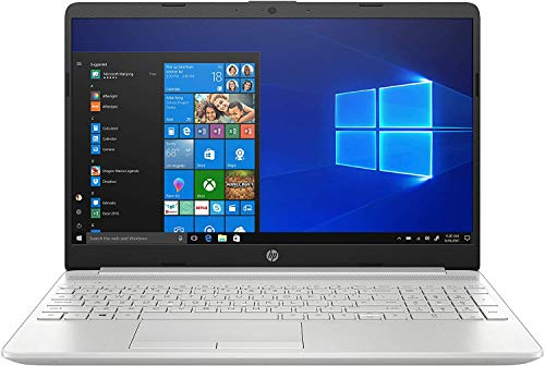 "2020 Newest HP 15 Laptop Intel Quad-Core i5 1035G1 Up to 3.6GHz 15.6"" Touchscreen 12GB DDR4 256GB PCIe SSD +1TB HDD 802.11AC WiFi Silver Windows 10 