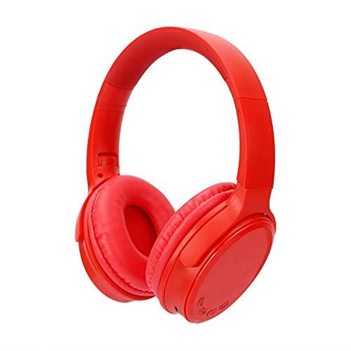 LALAHO Bluetooth 5.0 Auriculares inalámbricos de música Deportiva montados en la Cabeza con Embalaje Rosa