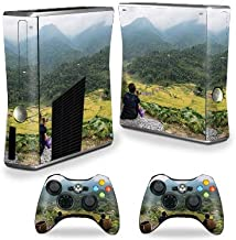 MightySkins Skin Compatible with Xbox 360 S Console - Vietnam Mountains   Protective, Durable, and Unique Vinyl Decal wrap Cover   Easy to Apply, Remove, and Change Styles   Made in The USA
