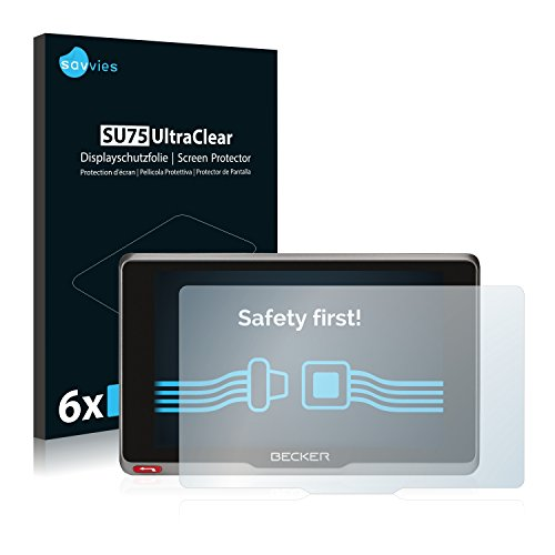 Savvies 6X Schutzfolie kompatibel mit Becker Transit.7SL EU Displayschutz-Folie Ultra-transparent