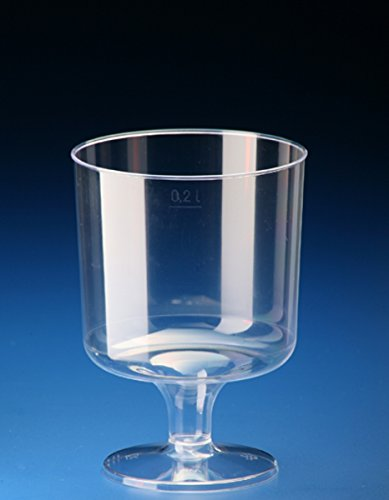 Lot de 10 verres à vin jetables de 200 ml - Transparents