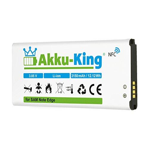 Akku-King Akku kompatibel mit Samsung EB-BN915BBC, EB-BN915BBE - Li-Ion 3150mAh - mit NFC - für Galaxy Note Edge, Edge 4G, F-N915F, SM-N9150