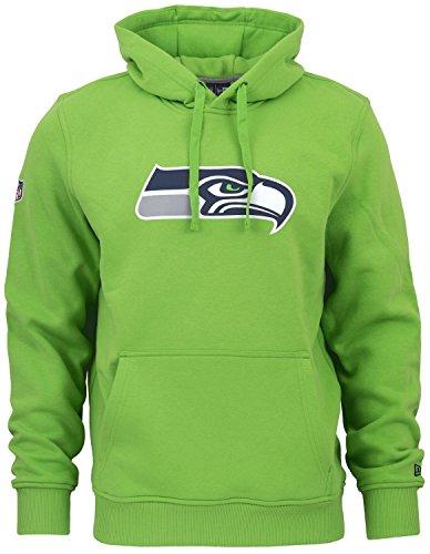 New Era - NFL Seattle Seahawks Team Logo Hoodie - Action Green Grün Größe M