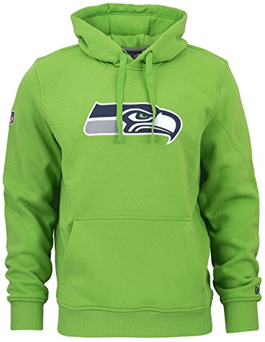New Era - NFL Seattle Seahawks Team Logo Hoodie - Action Green Grün Größe 3XL