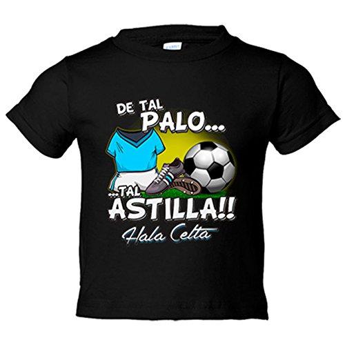 Camiseta niño De tal palo tal astilla Celta fútbol - Negro, 3-4 años