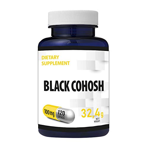 Black Cohosh (Cimicifuga Racemosa) Root Extract 100mg 120 Vegan Capsules Standardized to Contain at Least 5% Triterpene Glycosides
