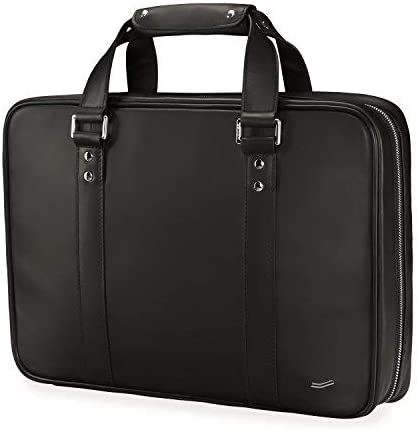 Vocier F25 新作入荷 Leather Briefcase 品質保証 Black