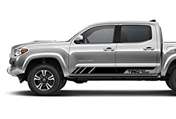 Coza Decal Sticker for Pickup Side Door fits TRD Tacoma Tundra or Any Toyota Truck Pair Set of 2 Black Matte