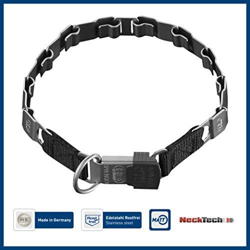 Sprenger Hundehalsband Neck-Tech Fun mit ClicLock Verschluss I Hundehalskette aus rostfreiem Edelstahl, matt, Flache austauschbare Gliederkette, 60cm