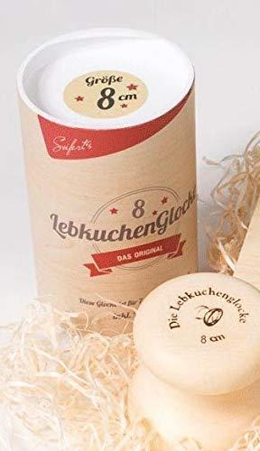 Lebkuchenglocke Lebkuchenbackform 8 cm Lebkuchenform Nürnberger Lebkuchen backen, Edelstahl, Holz…