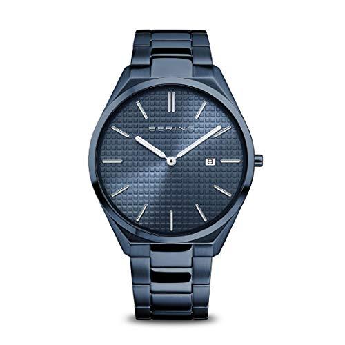 Bering Reloj analógico de cuarzo para hombre con correa de acero inoxidable 17240-797.