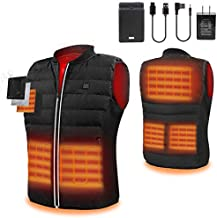 5V Heated Vest with Rechargeable Battery,Electric Lightweight Body Warmer Clothes Washable Heating Pad Apparel Jacket for Men Hiking, Hunting, Motorcycle, Camping