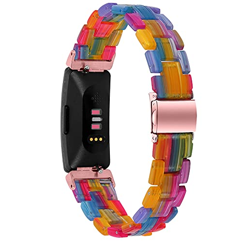 Compatible for Fitbit Inspire/ Inspire HR Bands, Resin Bracelet, Adjustable Strap for Fitbit Inspire 2 Health & Fitness Tracker (Multicolored, A Style- for Inspire/ Inspire HR)