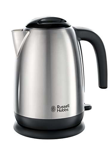 Russell Hobbs 23910 Adventure Brushed Stainless Steel Electric Kettle, Open Handle, 3000 W, 1.7 Litre